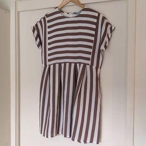 MINT VANILLA stripe mini dress with pockets!